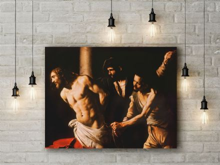 Caravaggio: Christ at the Column. Fine Art Canvas.